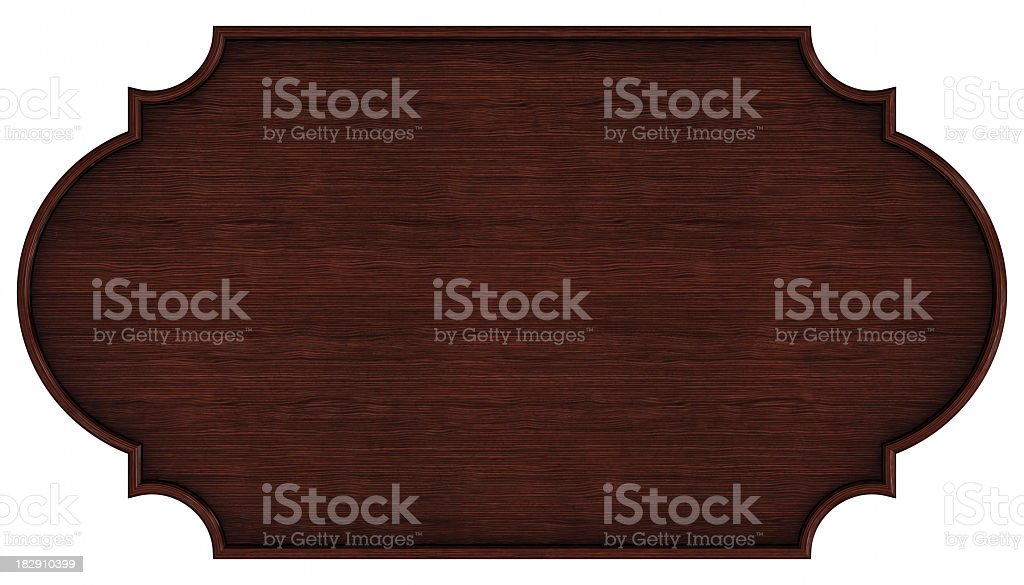 Wooden nameplate stock photo