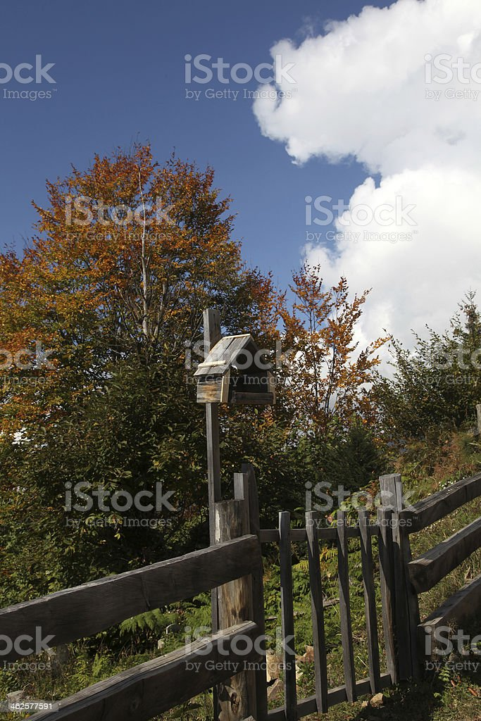 Wooden nest royalty-free stock photo