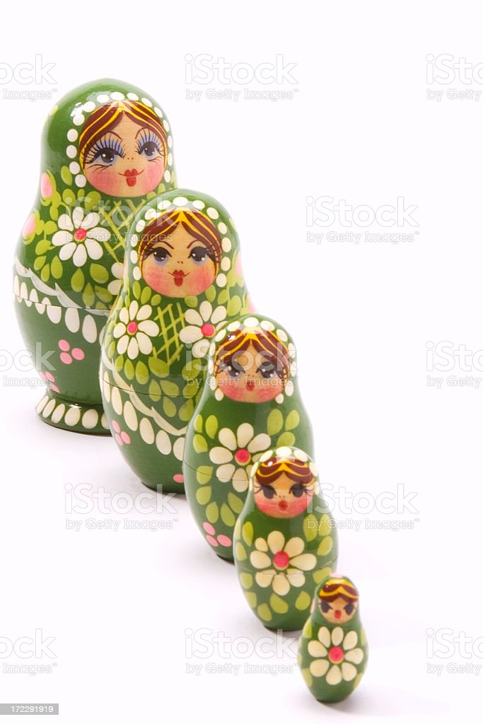 Wooden Nesting Dolls royalty-free stock photo