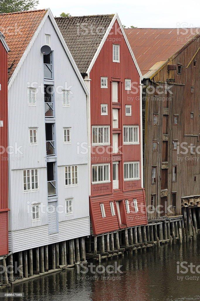 Wooden, Norwegian house royalty-free stock photo