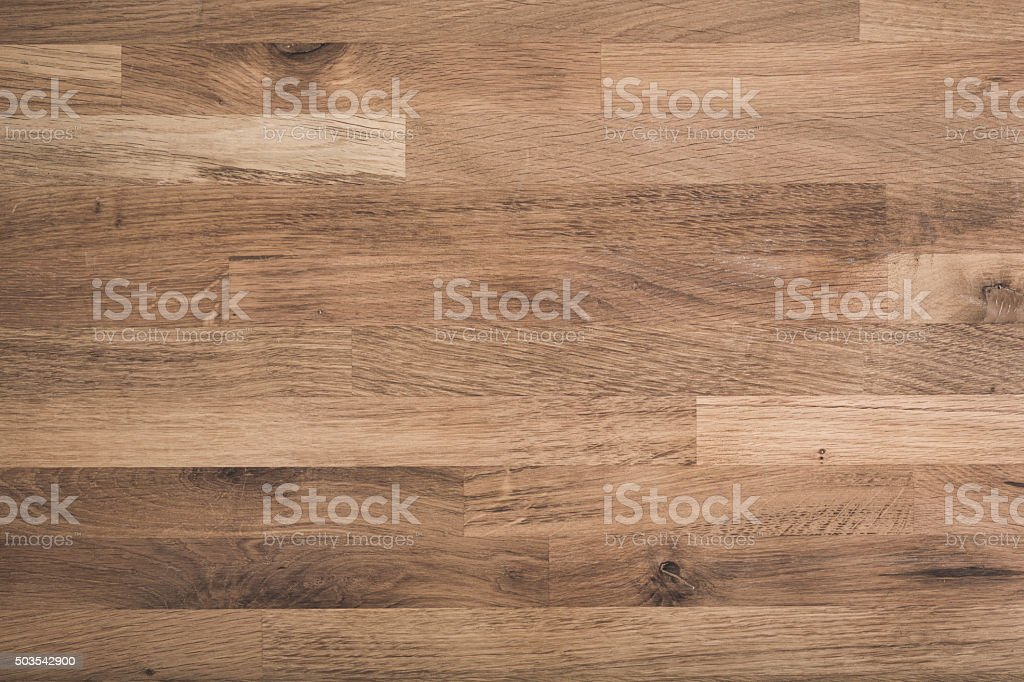 Wooden oak rustic table top background stock photo