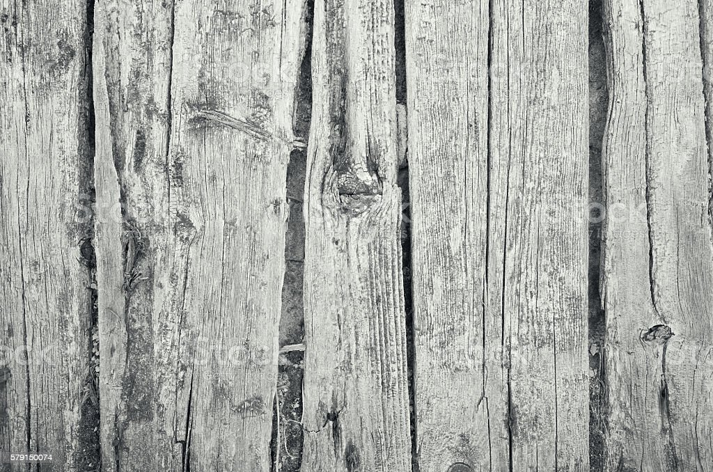 Wooden old black white plank background stock photo