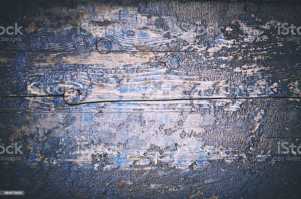Wooden old dark blue plank background stock photo