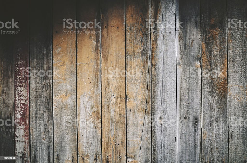 Wooden old gray beige plank background stock photo