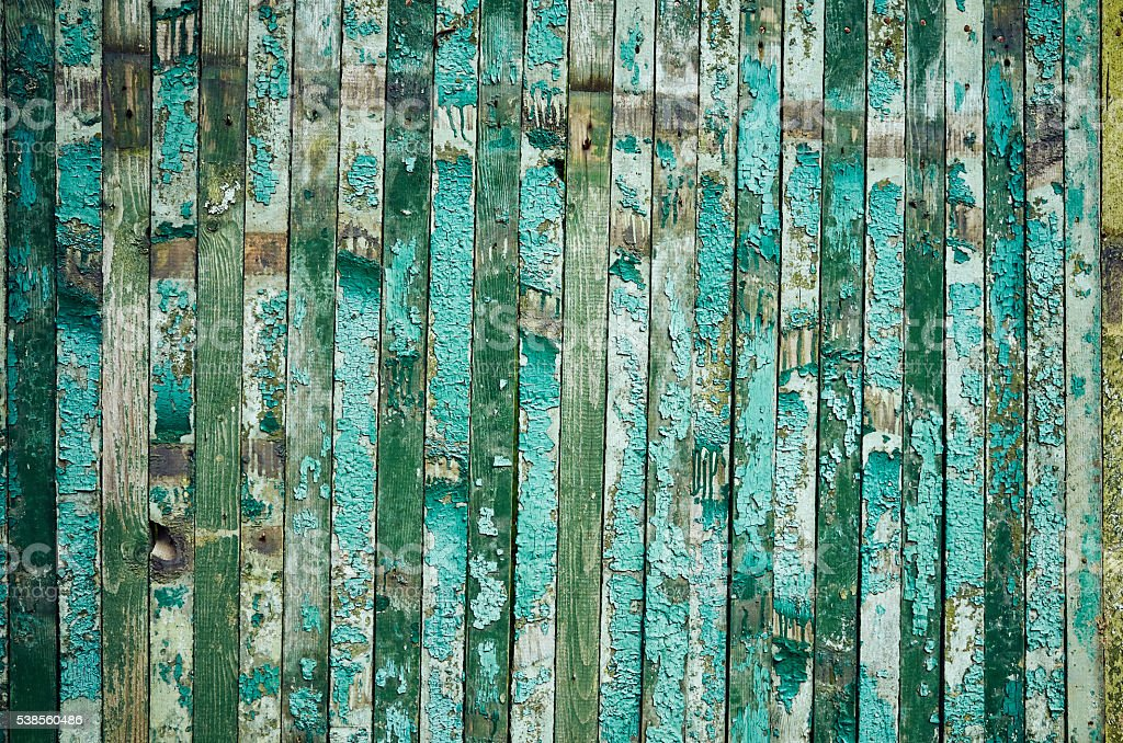 Wooden old green plank background stock photo