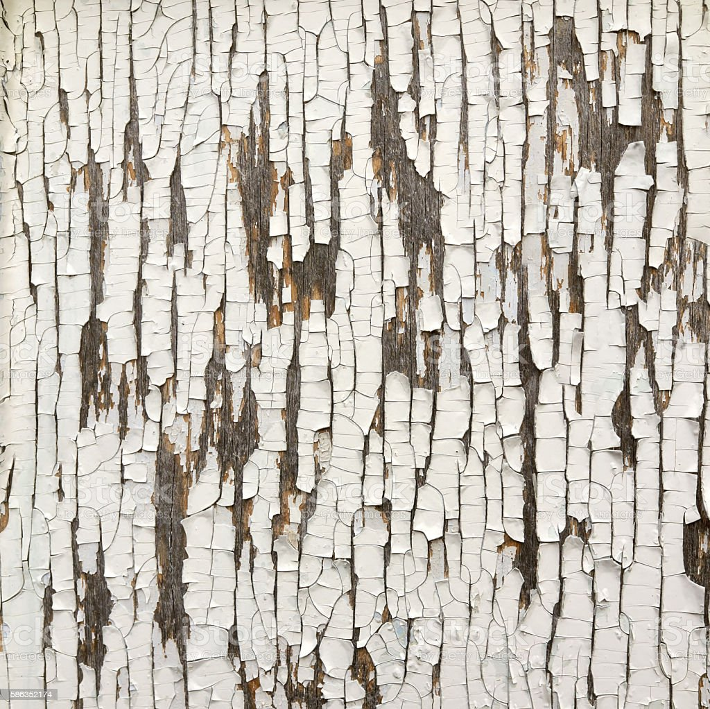 Wooden old white painted plank background stock photo