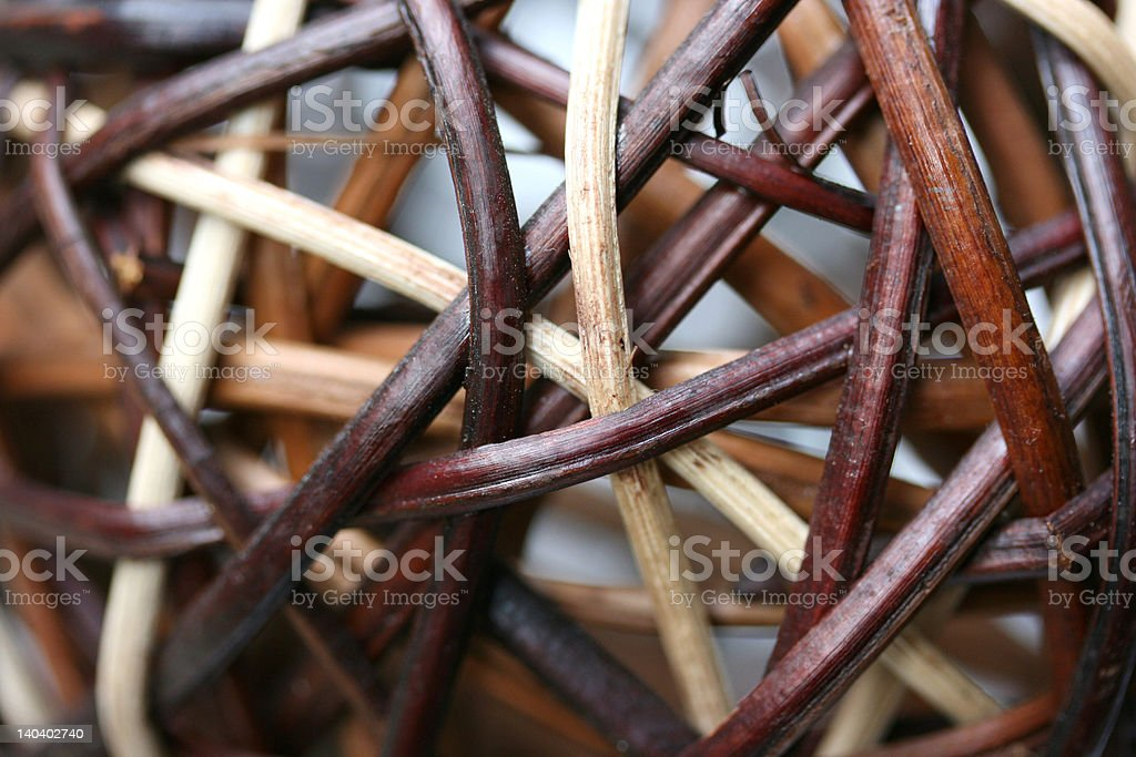 Wooden Ornamental Balls royalty-free stock photo