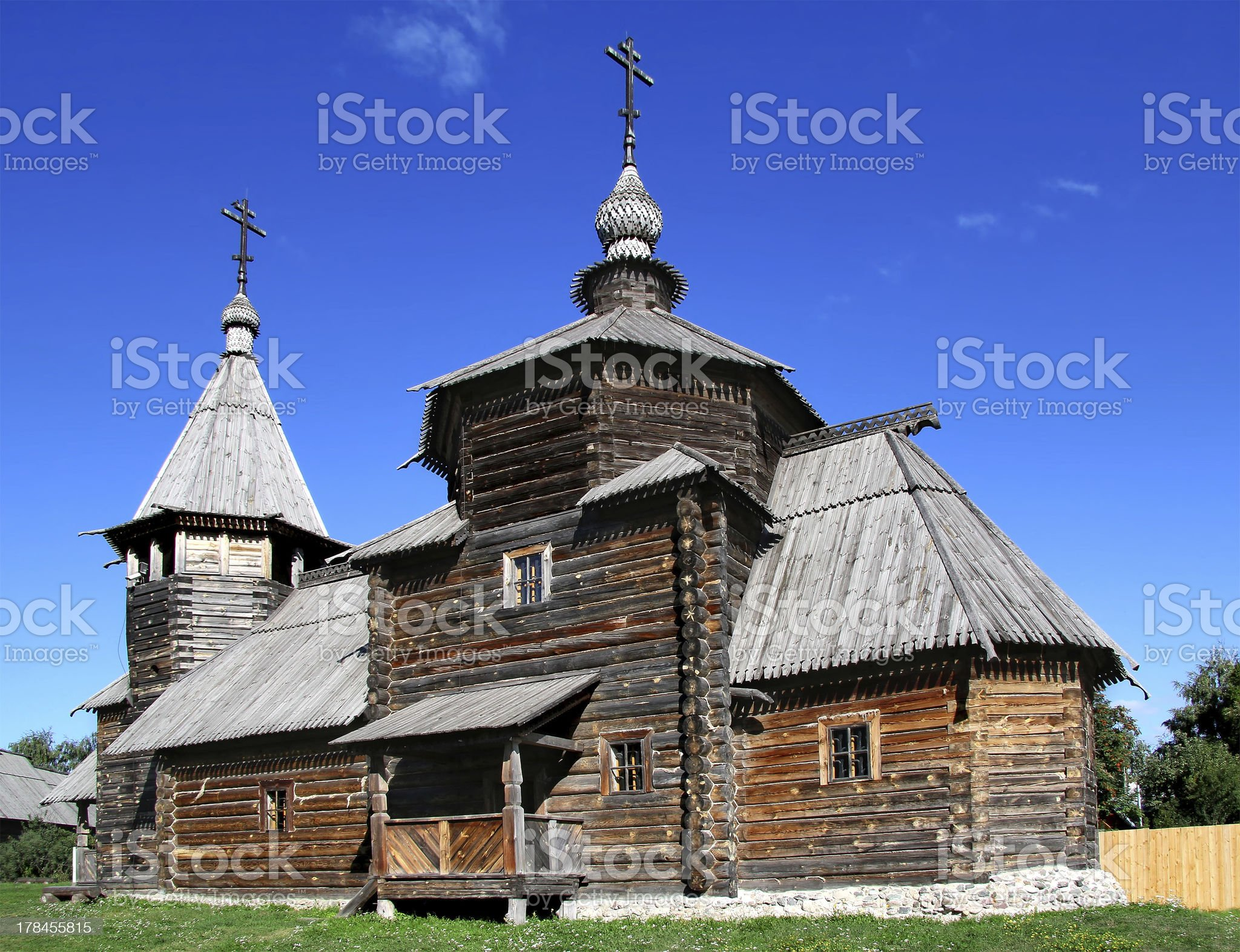 Wooden orthodox church royalty-free stock photo