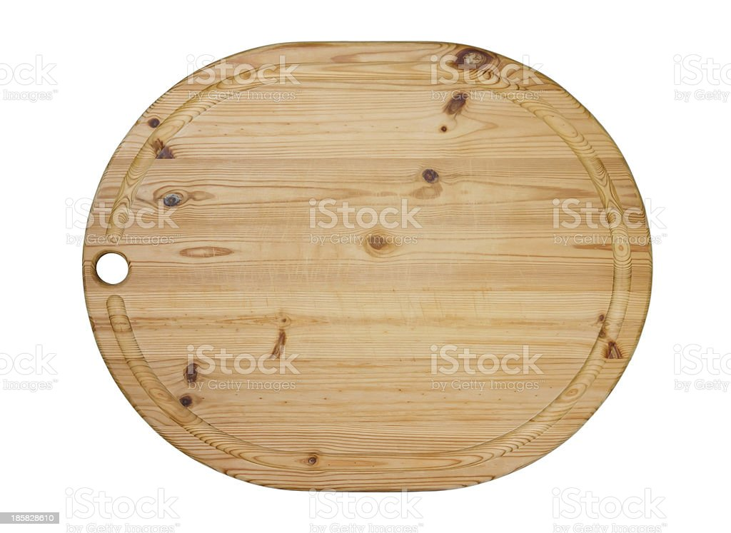 Wooden oval cutting board royalty-free stock photo