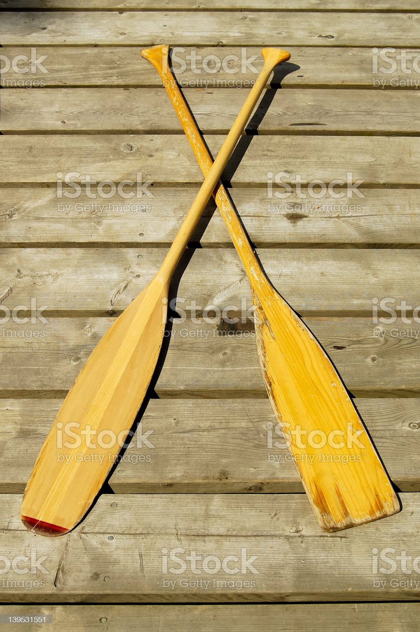 Wooden Paddles royalty-free stock photo