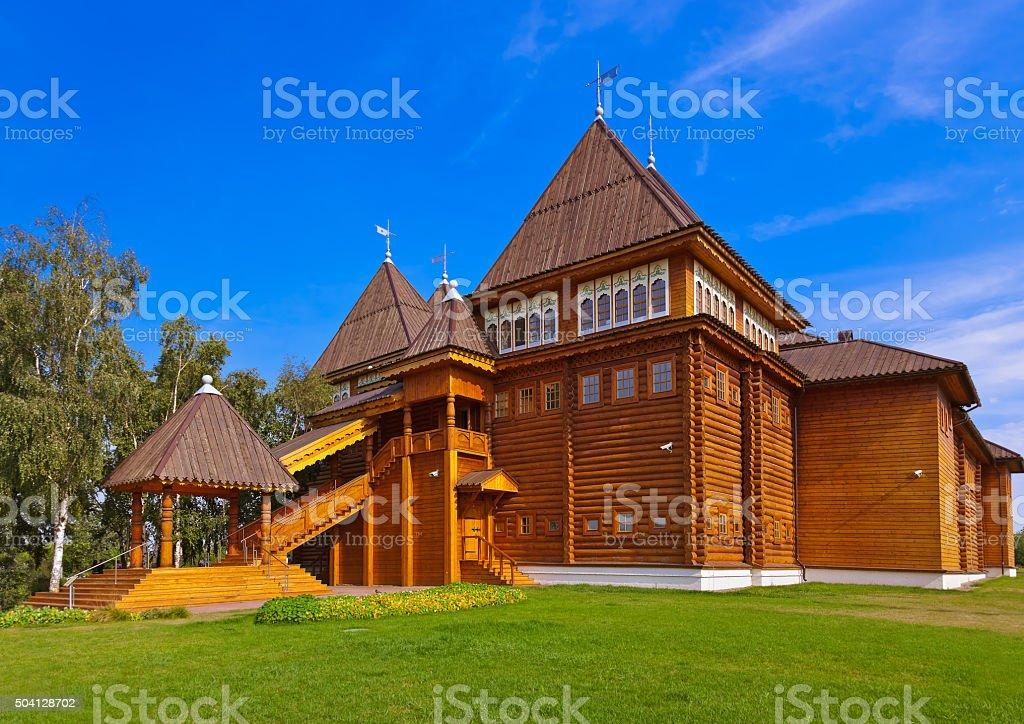 Wooden palace of Tsar Alexey Mikhailovich in Kolomenskoe - Mosco stock photo