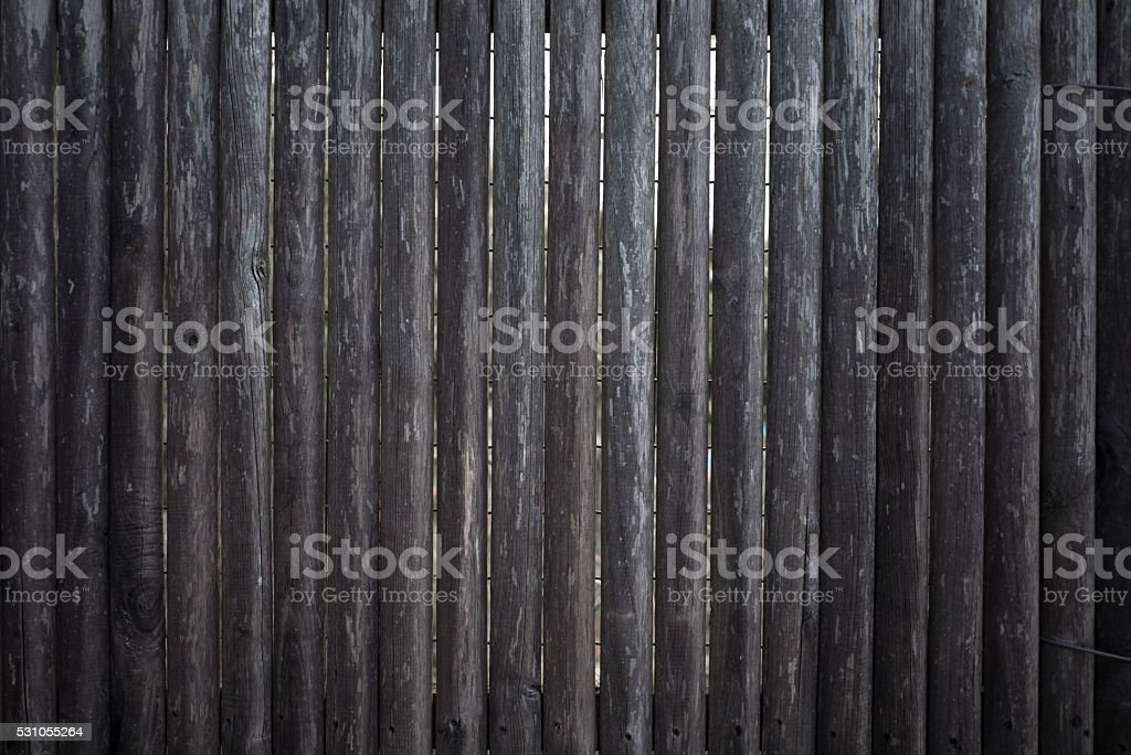 Wooden palisade stock photo
