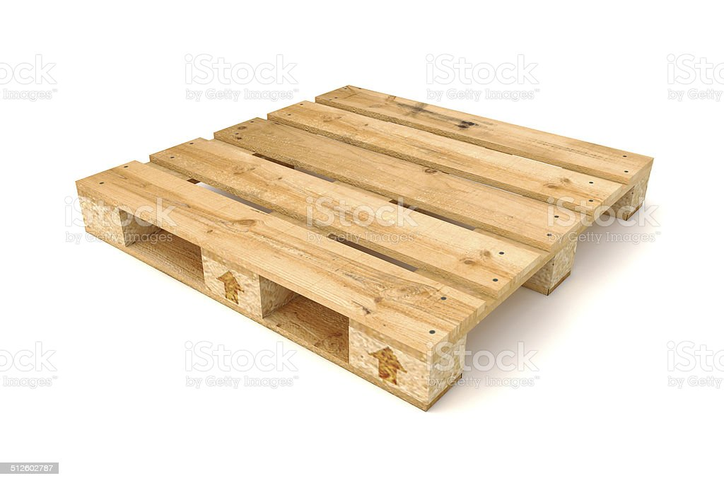 Wooden pallet. stock photo