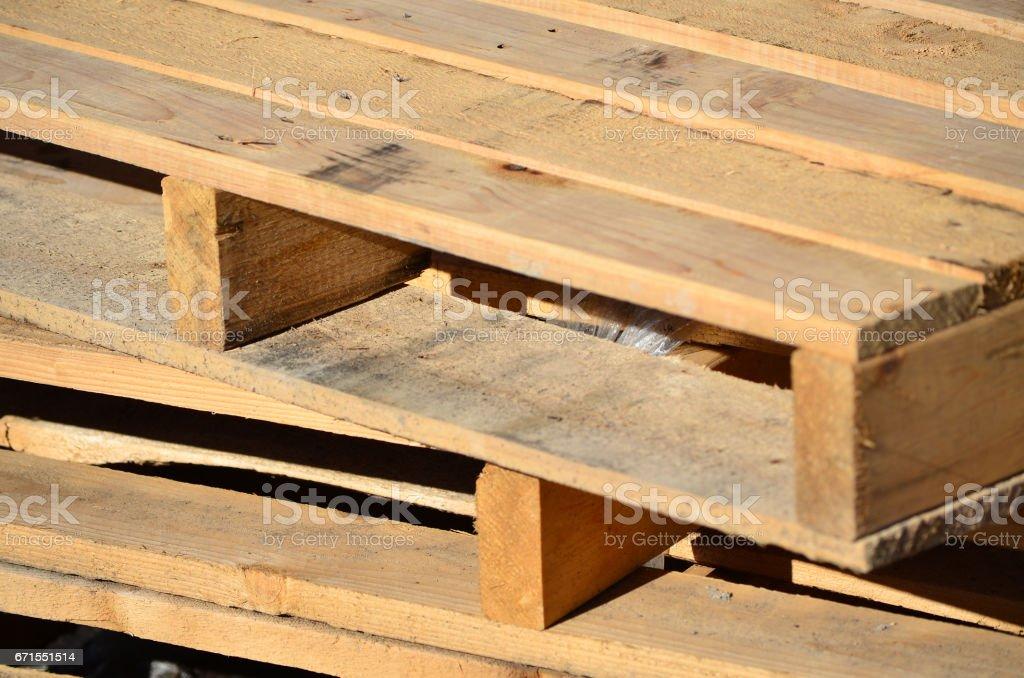 Wooden Pallet stock photo