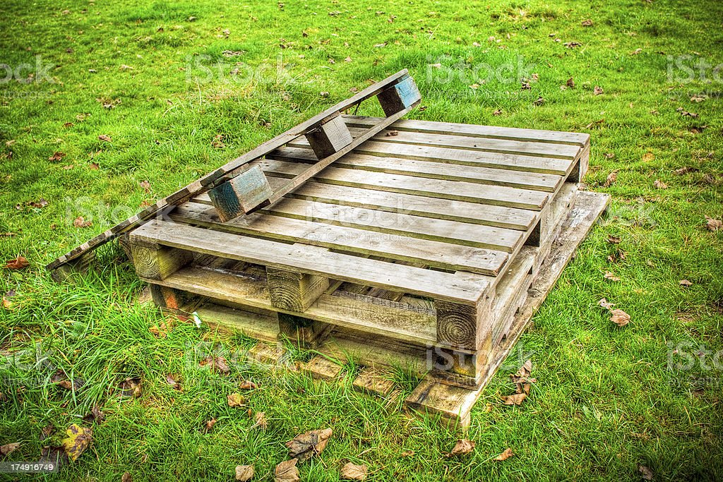 Wooden pallets royalty-free stock photo