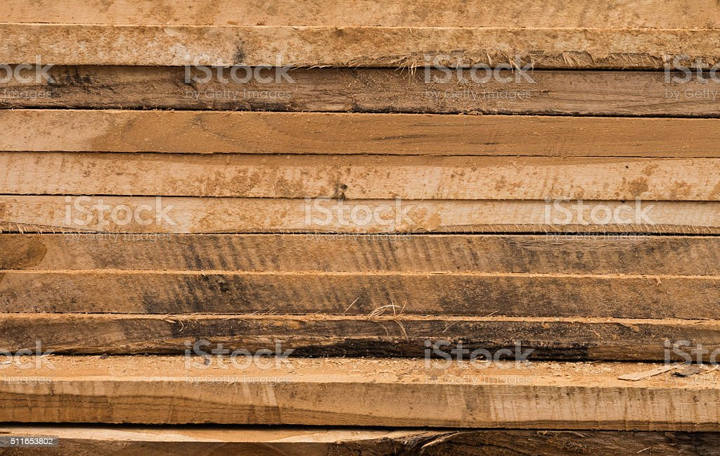 Wooden panels stacked stock photo