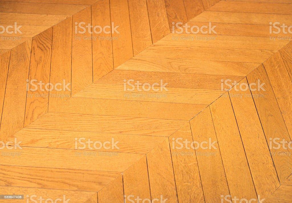 Wooden parquet floor detail stock photo