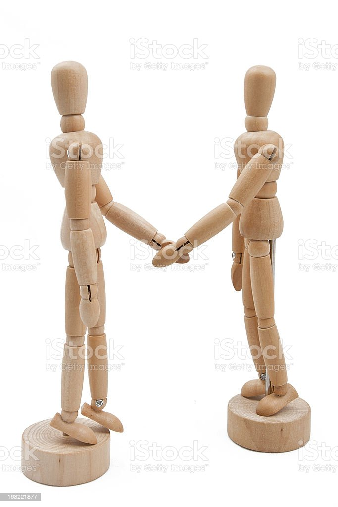 Wooden Partnership royalty-free stock photo