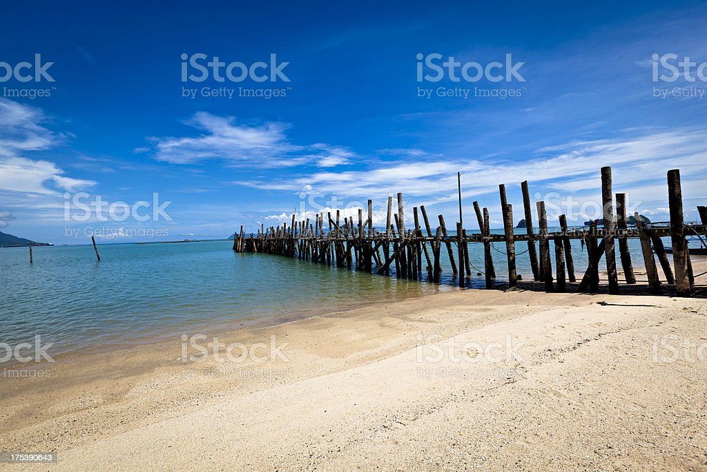 wooden pathway stock photo