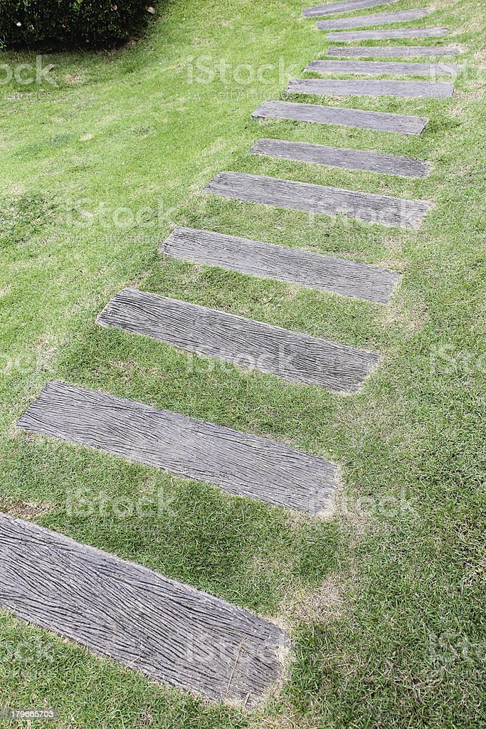 wooden pathway royalty-free stock photo