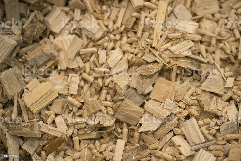 wooden pellets stock photo