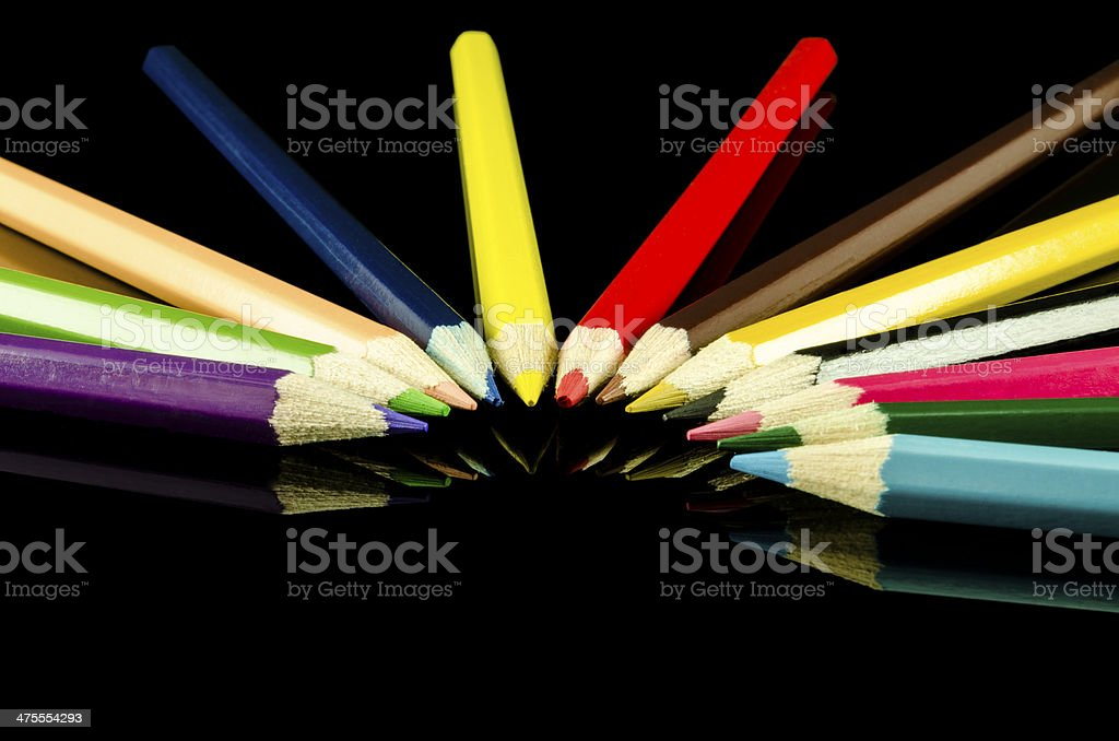 Wooden pencils isolated royalty-free stock photo