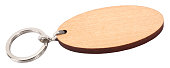 Wooden pendant elliptical key ring blank