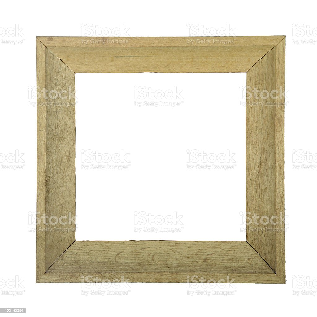 Wooden photo frame isolated on white background royalty-free stock photo