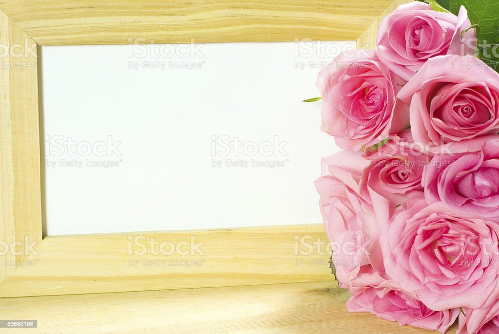 Wooden Photo Frame royalty-free stock photo