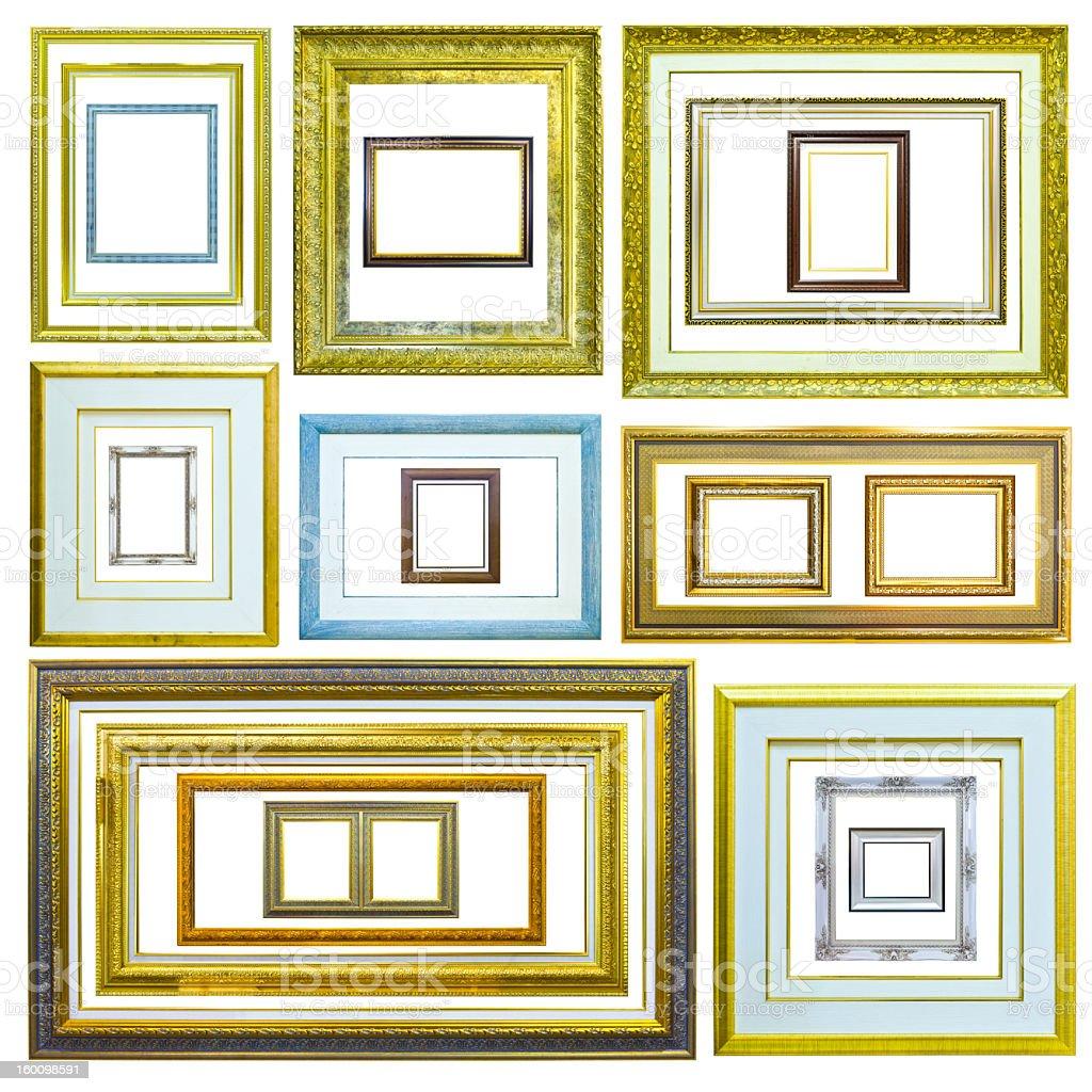 Foto telaio in legno isolato immagine foto stock royalty-free