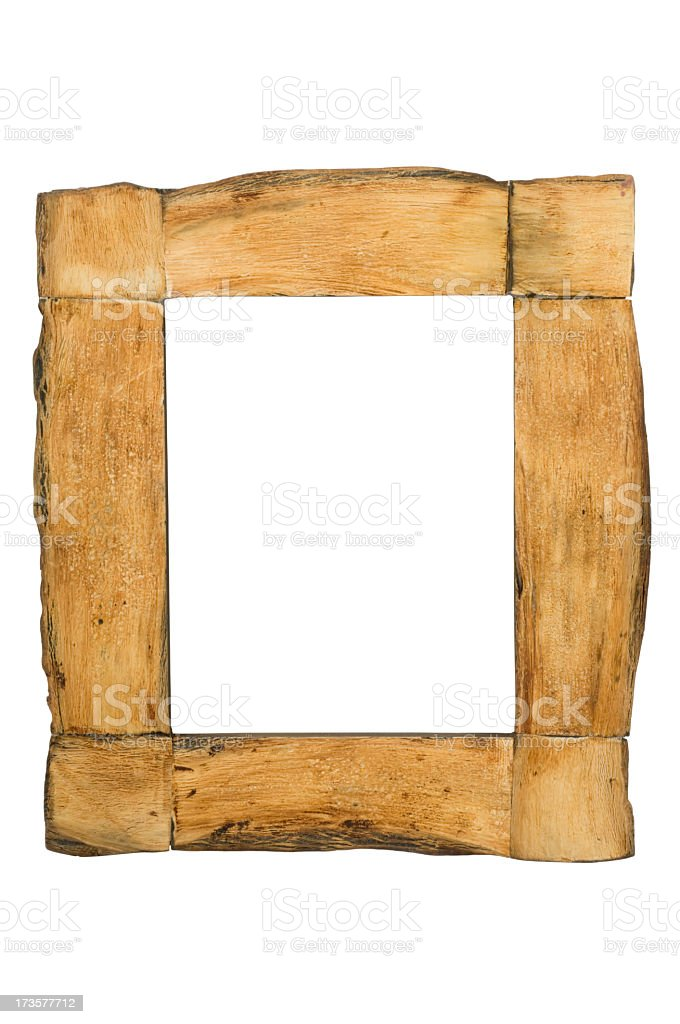Wooden Picture Frame (Clipping Paths) stock photo