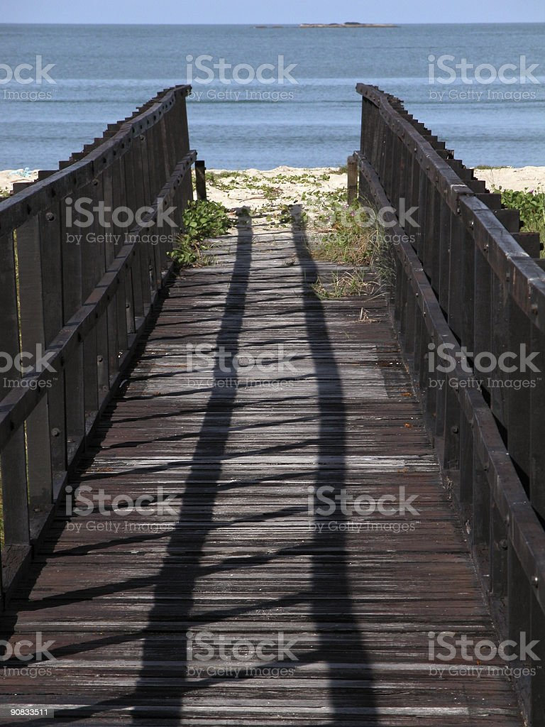 Wooden Pier at the Sea - Path to Paradise royalty-free stock photo