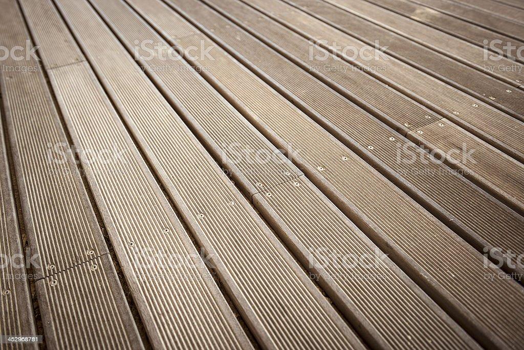 Wooden pier floor royalty-free stock photo