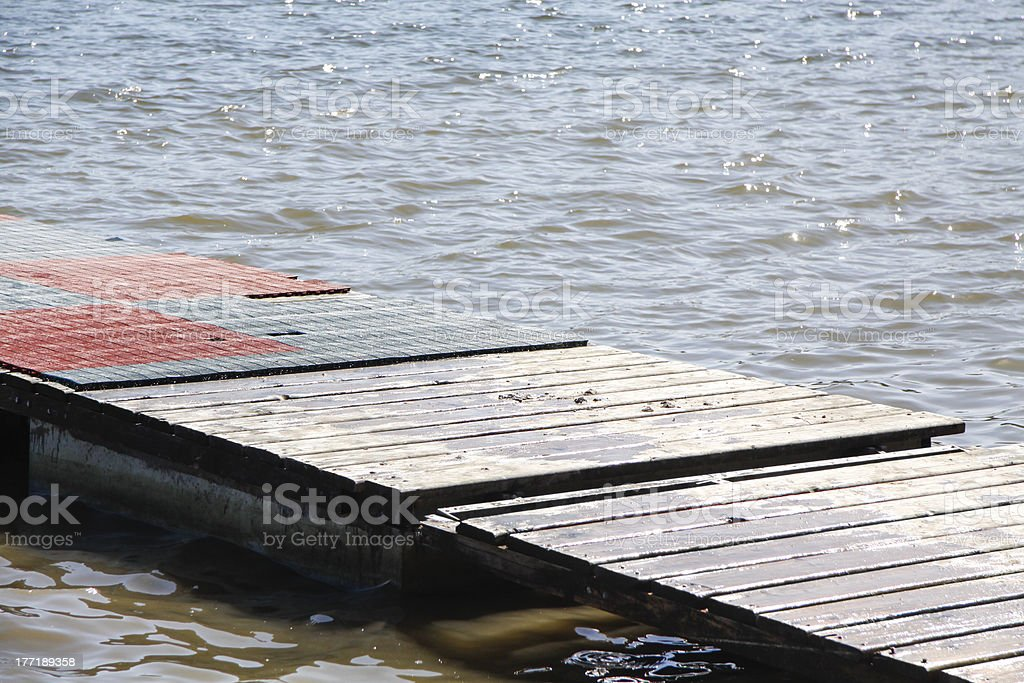 Wooden Pier Over The Sea royalty-free stock photo