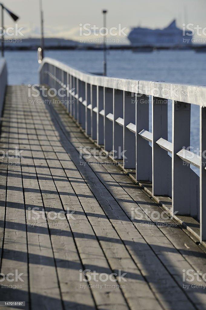 Muelle de madera foto de stock libre de derechos