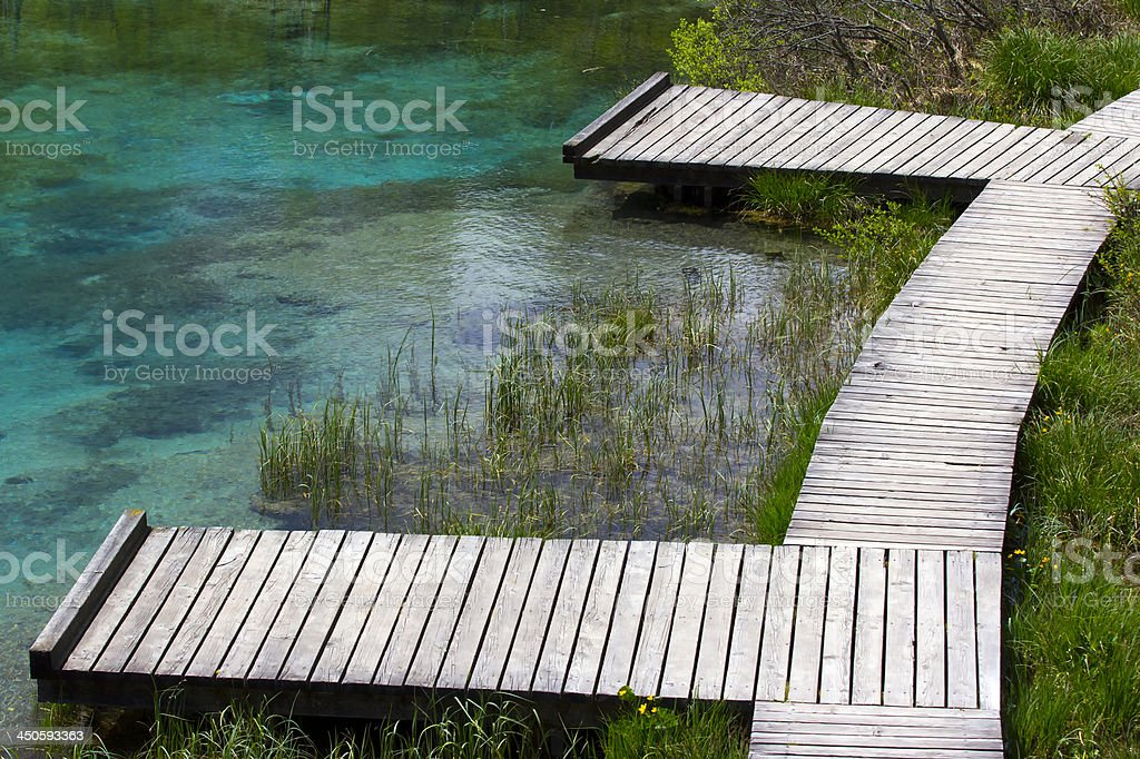 Wooden piers stock photo