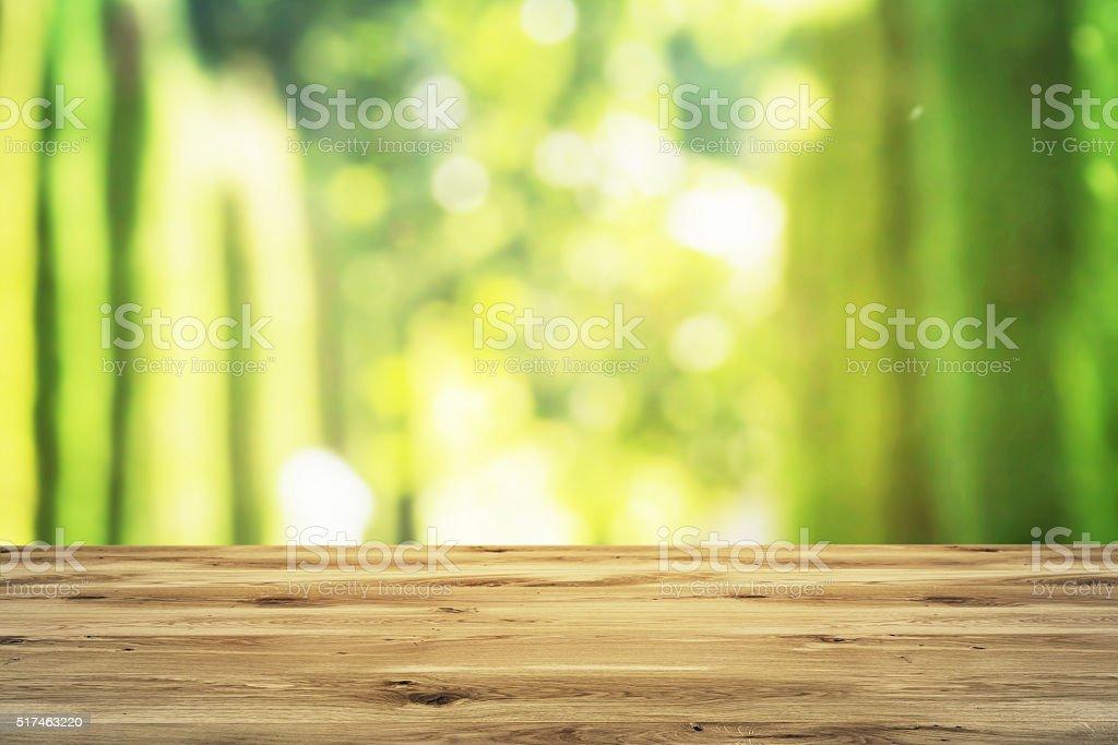 Wooden plank stock photo