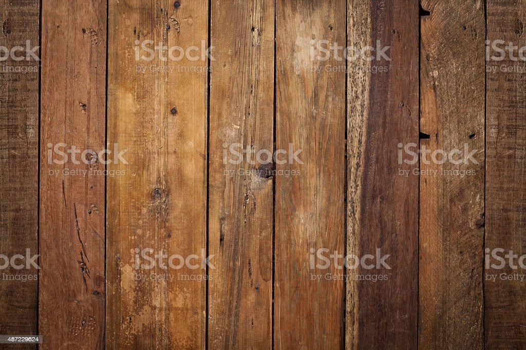 Wooden plank shot directly above stock photo