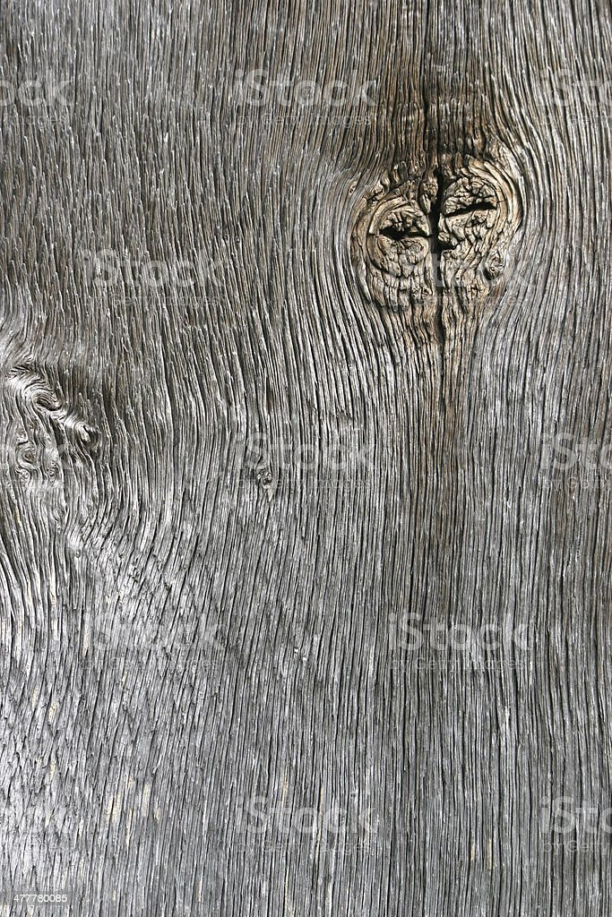 Wooden plank with knothole stock photo