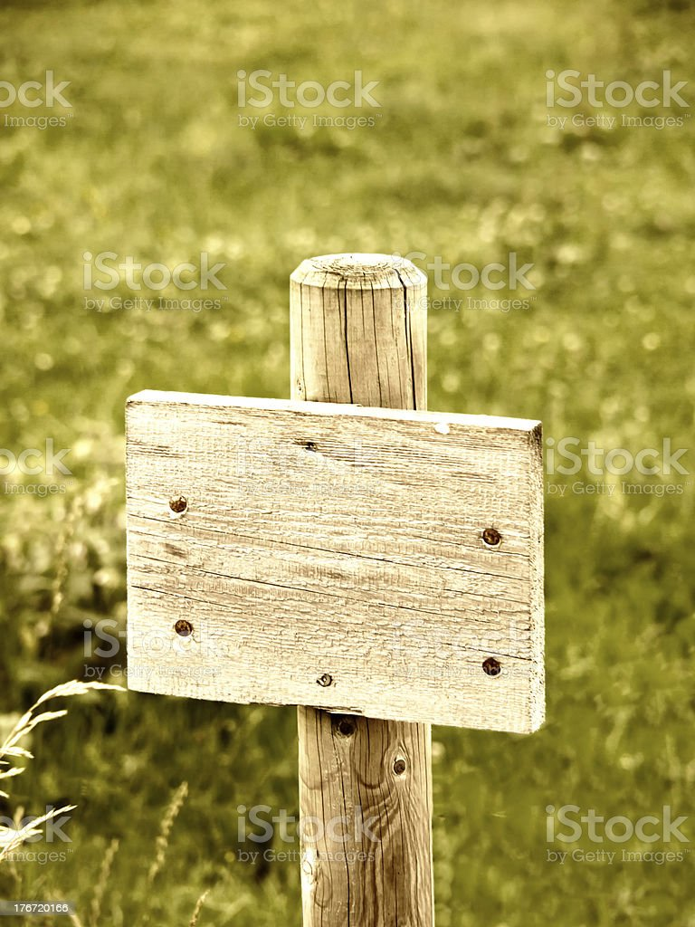 wooden plate sign royalty-free stock photo