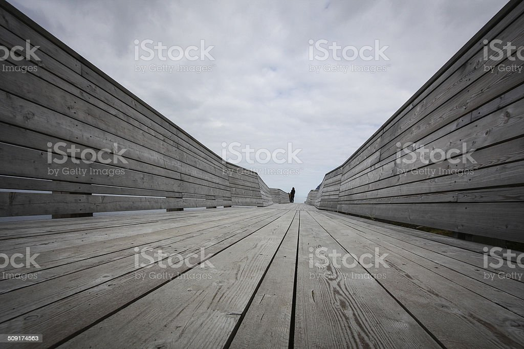 Wooden platform from low perspective royalty-free stock photo
