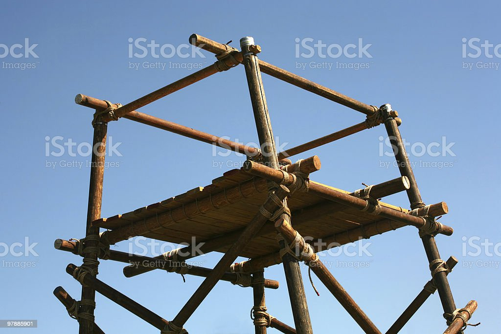 Wooden platform royalty-free stock photo