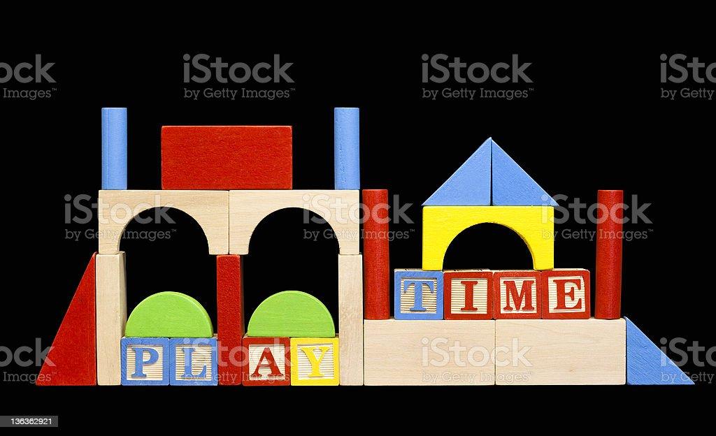 wooden play blocks royalty-free stock photo