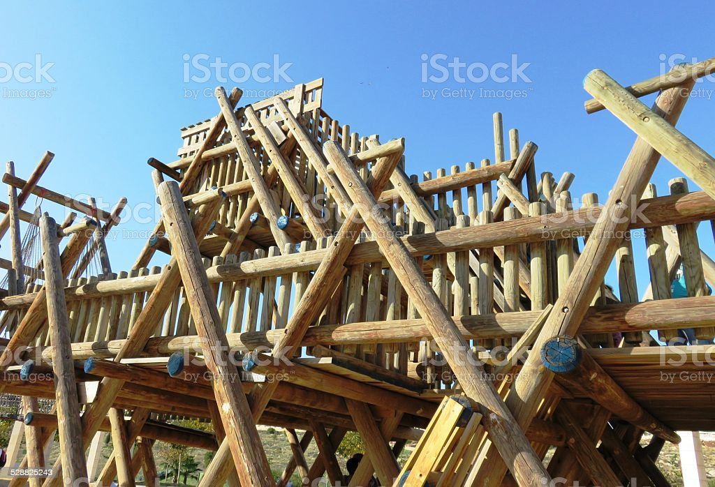 Wooden Playground stock photo