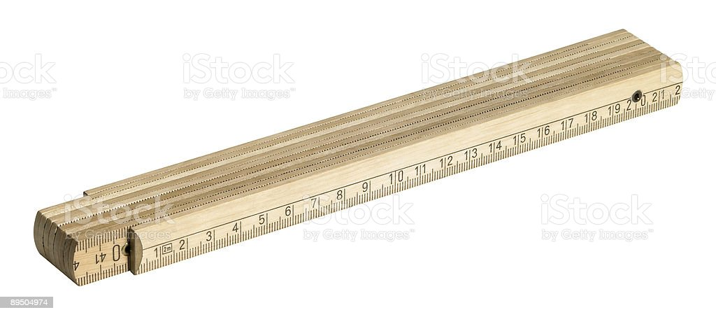 wooden pocket rule stock photo