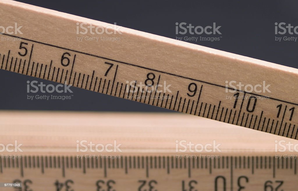 wooden pocket ruler detail stock photo