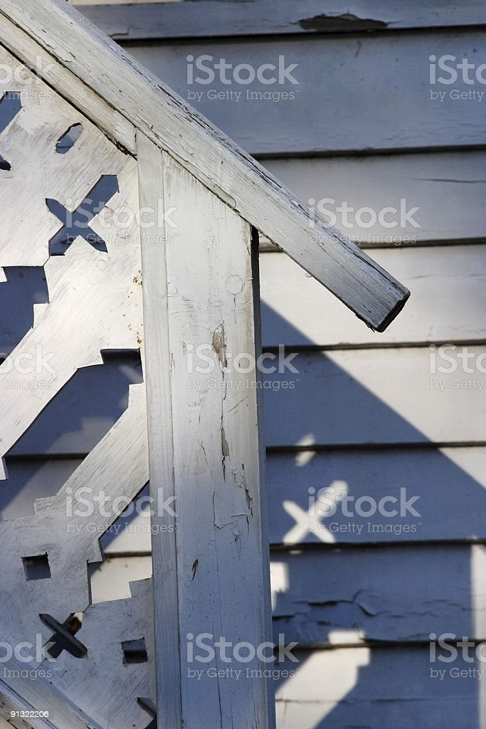 Wooden porch royalty-free stock photo