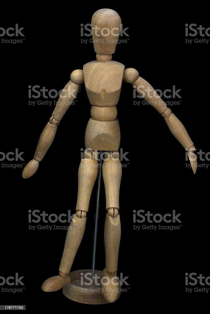 Wooden pose puppet (manikin) royalty-free stock photo