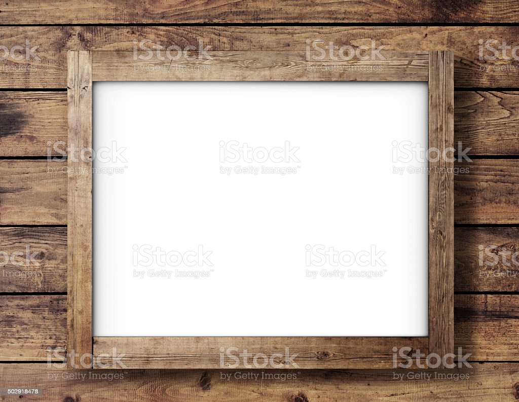 wooden poster stock photo