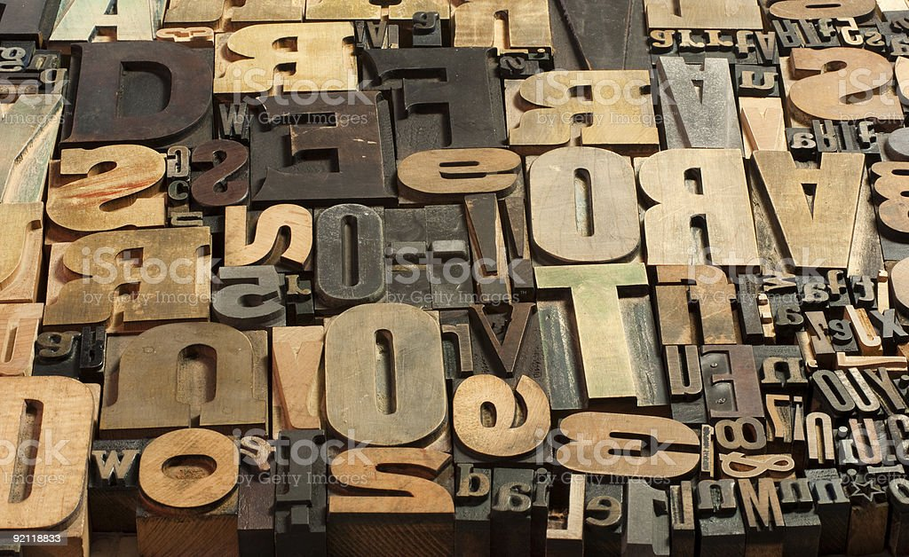 Wooden print background stock photo